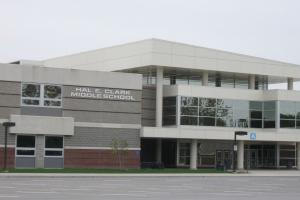 Clark Middle School front entrance