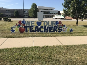 One of our CMS parents greeted the staff this morning with this incredible sign...THANK YOU!